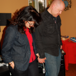 Dina and I dedicating the studio to the Lord at the grand opening